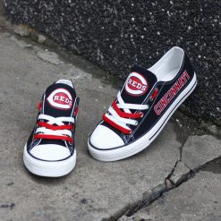 Cincinnati Reds Limited Low Top Canvas Sneakers