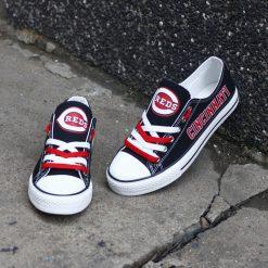 Cincinnati Reds Limited Low Top Canvas Sneakers