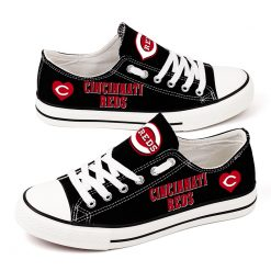 Cincinnati Reds Limited Low Top Canvas Shoes Sport