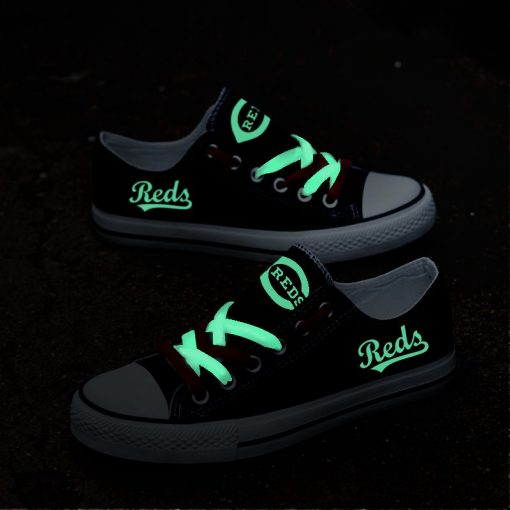 Cincinnati Reds Limited Luminous Low Top Canvas Sneakers