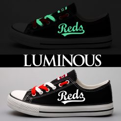 Cincinnati Reds Limited Luminous Low Top Canvas Sneakers