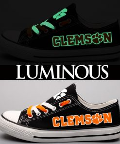 Clemson Tigers Limited Luminous Low Top Canvas Sneakers