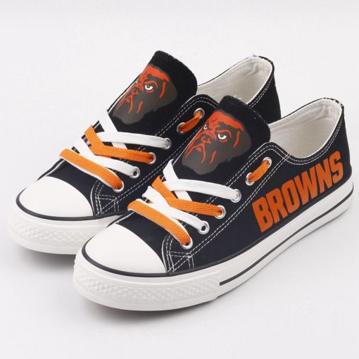 Cleveland Browns Limited Low Top Canvas Shoes Sport