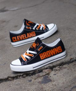 Cleveland Browns Low Top Canvas Shoes Sport