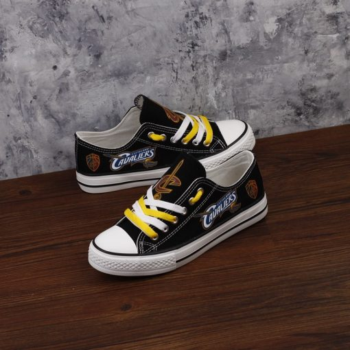 Cleveland Cavaliers Limited Low Top Canvas Shoes Sport