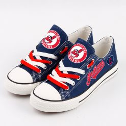 Cleveland Indians Low Top Canvas Shoes Sport