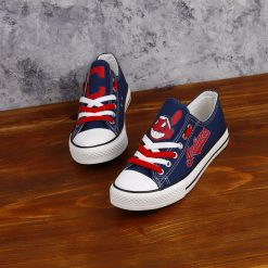 Cleveland Indians Limited Low Top Canvas Sneakers