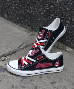 Cleveland Indians Limited Low Top Canvas Shoes Sport