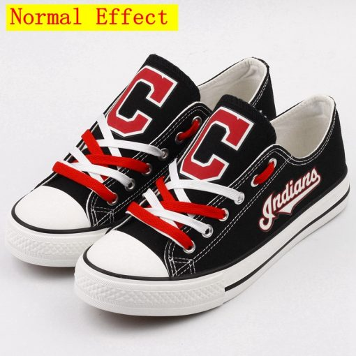 Cleveland Indians Limited Luminous Low Top Canvas Sneakers
