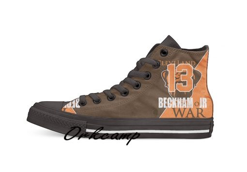 Clevelands Football Player Beckham Jr High Top Canvas Shoes Custom Walking shoes