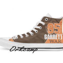 Clevelands Football Player Burnett High Top Canvas Shoes Custom Walking shoes 1