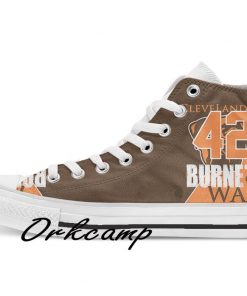 Clevelands Football Player Chubb High Top Canvas Shoes Custom Walking shoes 1