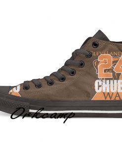 Clevelands Football Player Chubb High Top Canvas Shoes Custom Walking shoes