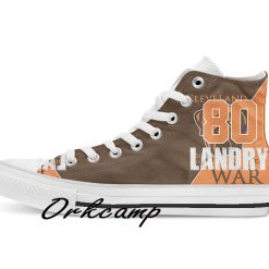 Clevelands Football Player Landry High Top Canvas Shoes Custom Walking shoes 1