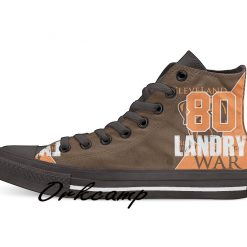 Clevelands Football Player Landry High Top Canvas Shoes Custom Walking shoes
