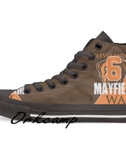 Clevelands Football Player Mayfield High Top Canvas Shoes Custom Walking shoes