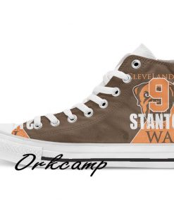 Clevelands Football Player Stanton High Top Canvas Shoes Custom Walking shoes 1