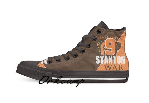 Clevelands Football Player Stanton High Top Canvas Shoes Custom Walking shoes