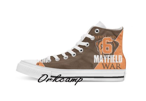 Clevelands Football Player Ward High Top Canvas Shoes Custom Walking shoes 1