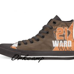 Clevelands Football Player Ward High Top Canvas Shoes Custom Walking shoes