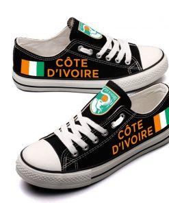 Coate d'Ivoire National Team Fans Low Top Canvas Sneakers