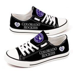 Colorado Rockies Low Top Canvas Sneakers