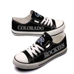 Colorado Rockies Limited Low Top Canvas Shoes Sport