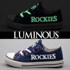 Colorado Rockies Limited Luminous Low Top Canvas Sneakers