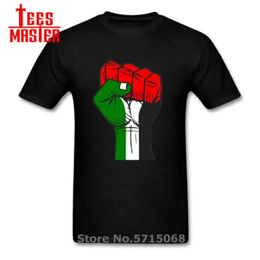 Colourful Palestine Hope strong fist Patriotic personages T shirt Hombre Awesome Artsy Summer New Men Cool 1