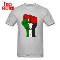 Colourful Palestine Hope strong fist Patriotic personages T shirt Hombre Awesome Artsy Summer New Men Cool 2