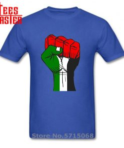 Colourful Palestine Hope strong fist Patriotic personages T shirt Hombre Awesome Artsy Summer New Men Cool