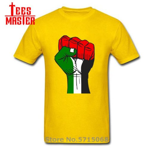 Colourful Palestine Hope strong fist Patriotic personages T shirt Hombre Awesome Artsy Summer New Men Cool 3