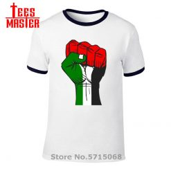 Colourful Palestine Hope strong fist Patriotic personages T shirt Hombre Awesome Artsy Summer New Men Cool 4