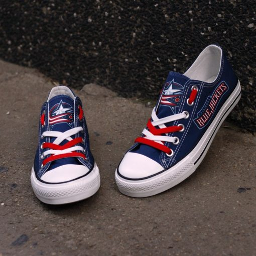 Columbus Blue Jackets Limited Low Top Canvas Sneakers