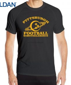 Cotton Casual Shirt White Top Annabelle MenPittsburgh Steeler Short Sleeve Sportsy Summer Tshirts Black 1