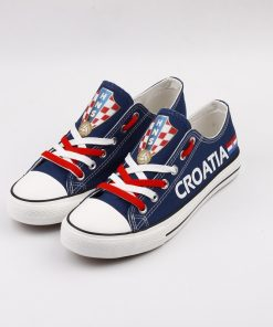 Croatia National Team Low Top Canvas Sneakers