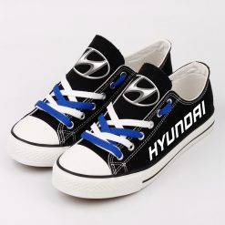 Custom HYUNDAI SHELL MOBIS WRT Fans Low Top Canvas Sneakers