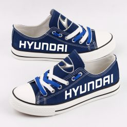 Custom HYUNDAI SHELL MOBIS WRT Fans Low Top Canvas Shoes Sport