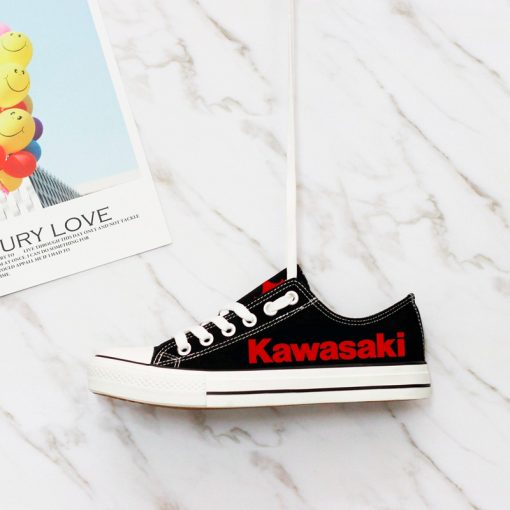 Custom KAWASAKI Limited Fans Low Top Canvas Sneakers