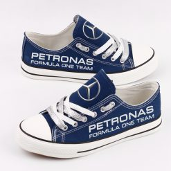 Custom Mercedes AMG Petronas Motorsport Fans Low Top Canvas Sneakers