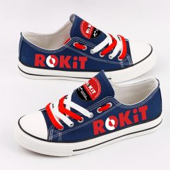 Custom Car ROKiT Williams Racing Team Fans Low Top Canvas Sneakers