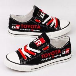 Custom TOYOTA GAZOO RACING WRT Fans Low Top Canvas Sneakers