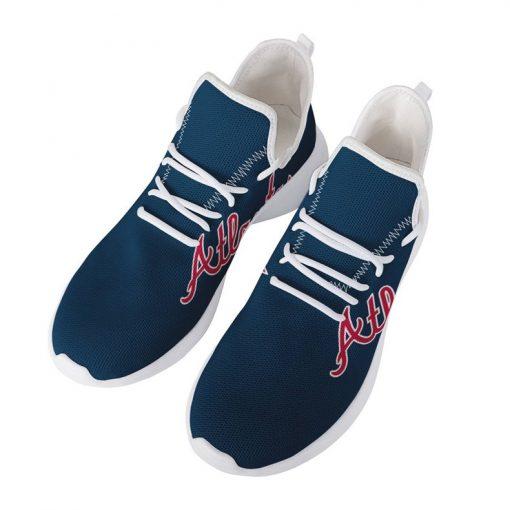 Custom Yeezy Running Shoes For Men Women Atlanta Braves