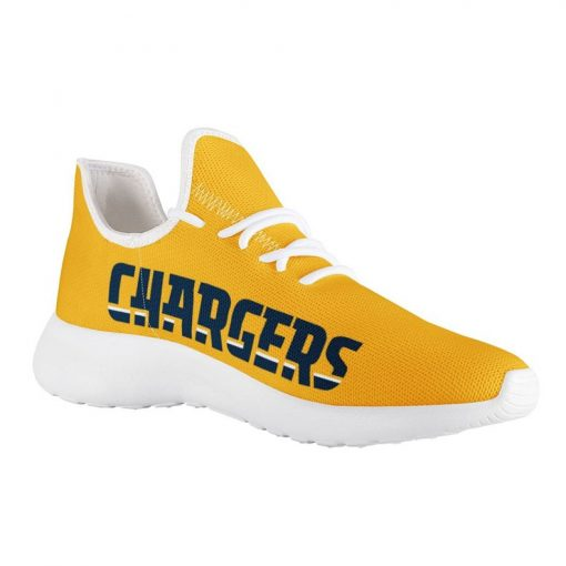 Custom Yeezy Running Shoes For Los Angeles Chargers Fans