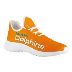 Custom Yeezy Running Shoes For Miami Dolphins Fans