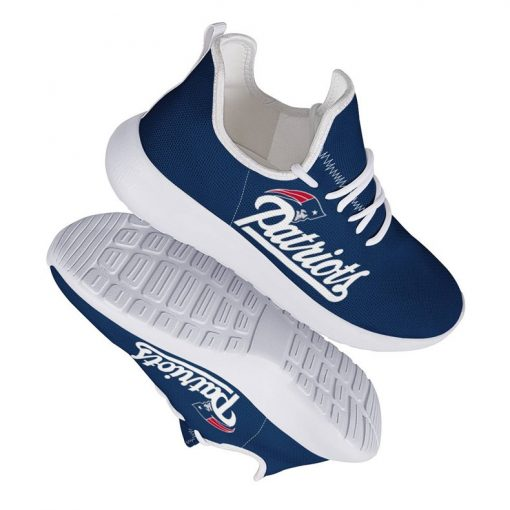 Custom Yeezy Running Shoes For New England Patriots Fans