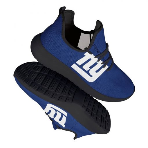 Custom Yeezy Running Shoes For New York Giants Fans