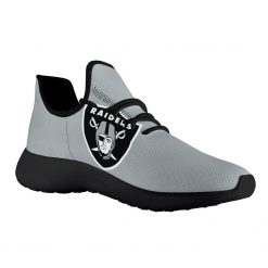 Custom Yeezy Running Shoes For Men Women Oakland Raiders