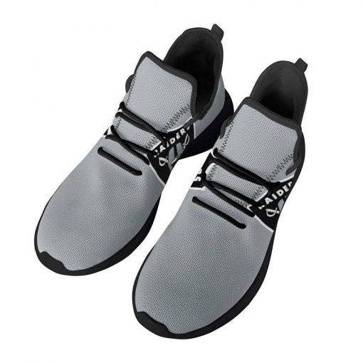 Custom Yeezy Running Shoes For Men Women Oakland Raiders