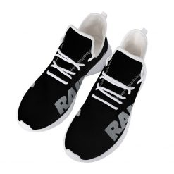 Custom Yeezy Running Shoes For Oakland Raiders Fans
